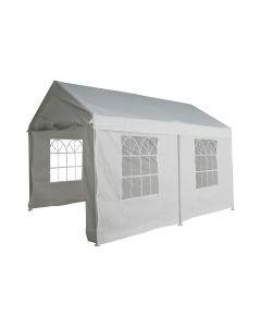 Gazebo per feste 3x4 metri Pure Garden & Living, bianco con pareti