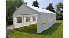 Gazebo per feste Deluxe Pure Garden & Living 4x8 metri, bianco con pareti