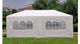 Gazebo per feste  3x6 metri Pure Garden & Living, bianco con pareti