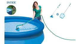 Kit di pulizia per piscina INTEX™ - attacco Ø 26,2 mm (asta inclusa)